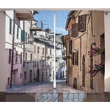 Arcola Italian Apartments Graphic Print Semi-Sheer Rod Pocket Curtain Panels (Set of 2)