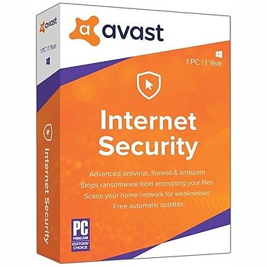 Avast – Logiciel Internet Security 2019, 1 utilisateur, 1 an [Téléchargement]