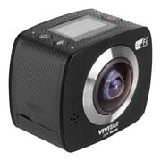 Vivitar DVR988HD 360-Degree VR Wi-Fi Action Video Camera Camcorder, Black