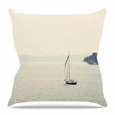 East Urban Home Hazy Sea by Sylvia Coomes Throw Pillow; 18'' H x 18'' W x 4'' D