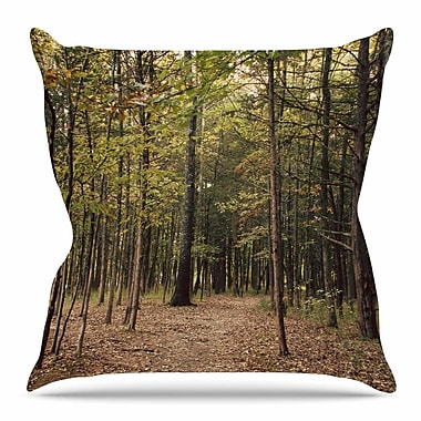 East Urban Home Forest Trees by Sylvia Coomes Throw Pillow; 18'' H x 18'' W x 4'' D
