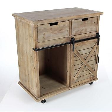 Gracie Oaks Otego Wooden Storage 1 Door 2 Drawer Accent Cabinet