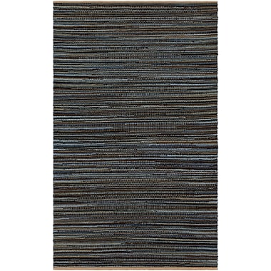 Gracie Oaks Pitcher Hand-Woven Gray/Black Area Rug; 8' x 10'