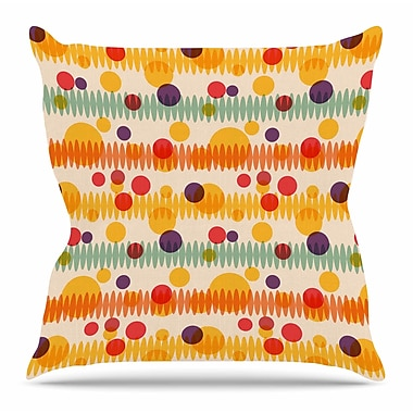 East Urban Home Bubble Stripes Fun by Yenty Jap Throw Pillow; 16'' H x 16'' W x 4'' D