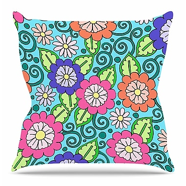 East Urban Home Summer Floral by Sarah Oelerich Throw Pillow; 16'' H x 16'' W x 4'' D