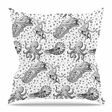 East Urban Home Cephalopods by Stephanie Vaeth Throw Pillow; 18'' H x 18'' W x 4'' D