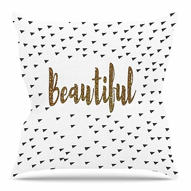 East Urban Home Beautiful by Suzanne Carter Throw Pillow; 16'' H x 16'' W x 4'' D