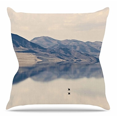 East Urban Home Reflective 1 by Sylvia Coomes Throw Pillow; 20'' H x 20'' W x 4'' D