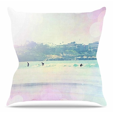 East Urban Home Rainbow I by Sylvia Coomes Throw Pillow; 16'' H x 16'' W x 4'' D