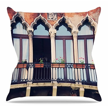 East Urban Home Venice 11 by Sylvia Coomes Throw Pillow; 20'' H x 20'' W x 4'' D