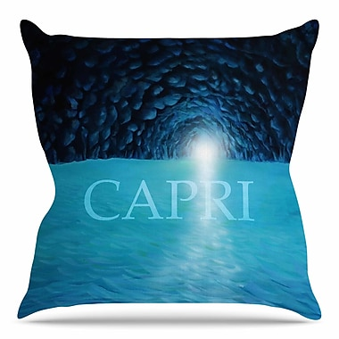 East Urban Home The Grotto of Capri by Theresa Giolzetti Throw Pillow; 16'' H x 16'' W x 4'' D