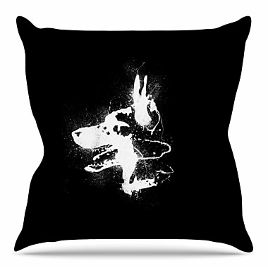 East Urban Home Watchdog by BarmalisiRTB Throw Pillow; 18'' H x 18'' W x 4'' D