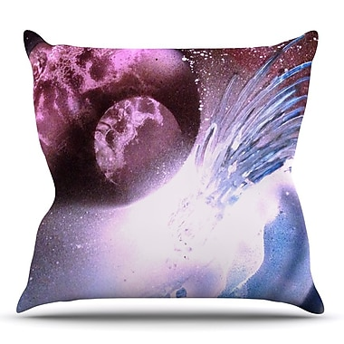 East Urban Home Space Tube by Infinite Spray Art Throw Pillow