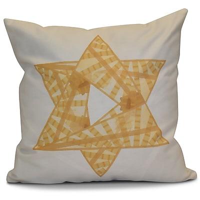 The Holiday Aisle Hanukkah 2016 Decorative Holiday Geometric Euro Pillow; Gold