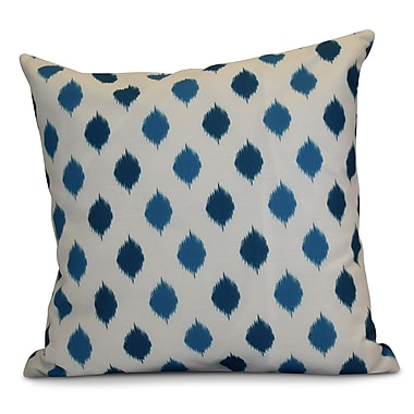 The Holiday Aisle Hanukkah 2016 Decorative Holiday Geometric Euro Pillow; Teal