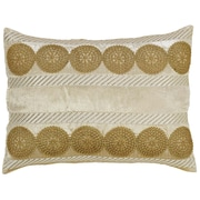 The Holiday Aisle Memories Lumbar Pillow; Creme