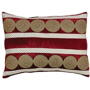 The Holiday Aisle Memories Lumbar Pillow; Red