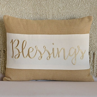 The Holiday Aisle Blessings Lumbar Pillow