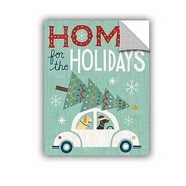 The Holiday Aisle Holiday on Wheels Wall Mural; 48'' H x 36'' W x 0.1'' D