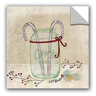 The Holiday Aisle Candy Cane Wall Mural; 10'' H x 10'' W x 0.1'' D