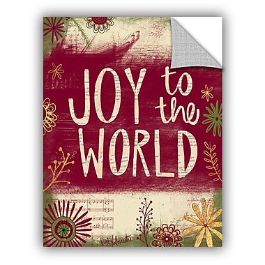 The Holiday Aisle Joy to the World Wall Mural; 48'' H x 36'' W x 0.1'' D