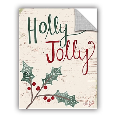 The Holiday Aisle Holly Jolly II Wall Mural; 18'' H x 14'' W x 0.1'' D