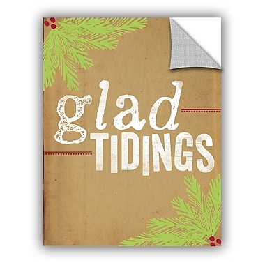 The Holiday Aisle Glad Tidings Wall Mural; 10'' H x 8'' W x 0.1'' D