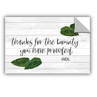 The Holiday Aisle Kitchen Blessings 2 Wall Mural; 16'' H x 24'' W x 0.1'' D