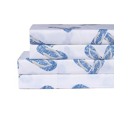 Highland Dunes Bower Flip Flop 200 Thread Count 100pct Cotton 4 Piece Sheet Set