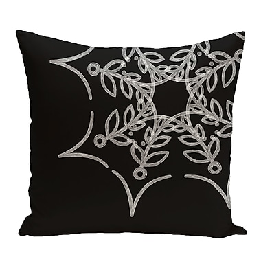 The Holiday Aisle Spider Web Outdoor Throw Pillow; Black