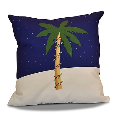 The Holiday Aisle Decorative Christmas Geometric Print Outdoor Throw Pillow; 16'' H x 16'' W