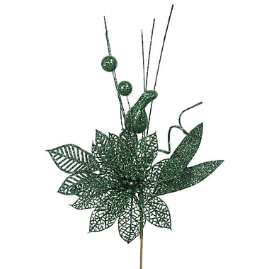 The Holiday Aisle Poinsettia and Ball Decorative Christmas Pick (Set of 12); Mocha