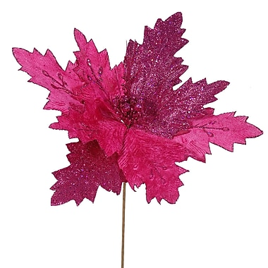 The Holiday Aisle Poinsettia Decorative Christmas Flower (Set of 6); Cerise