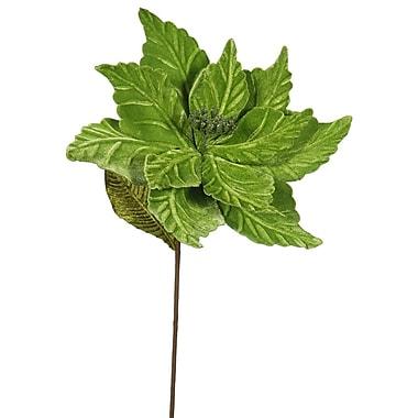 The Holiday Aisle Poinsettia Decorative Christmas Stem (Set of 6); Lime