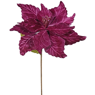 The Holiday Aisle Poinsettia Decorative Christmas Stem (Set of 6); Mauve