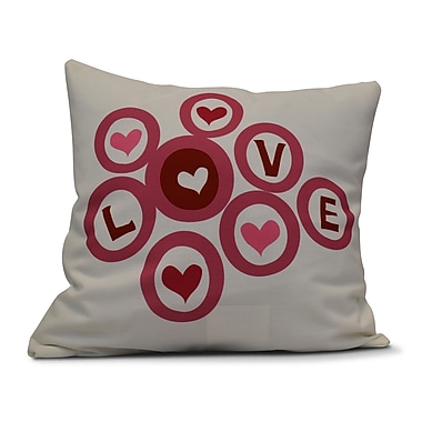 The Holiday Aisle Love in the Round Throw Pillow; 26'' H x 26'' W