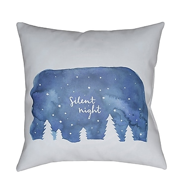 The Holiday Aisle Silent Night Indoor/outdoor Throw Pillow; 20'' H x 20'' W x 4'' D
