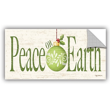 The Holiday Aisle Kathy Middlebrook Peace on Earth Wall Mural; 24'' H x 48'' W x 0.1'' D