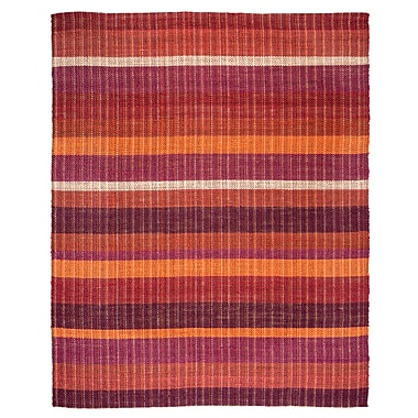 Latitude Run Rosella Hand-Braided Sunrise Area Rug; 8' x 10'