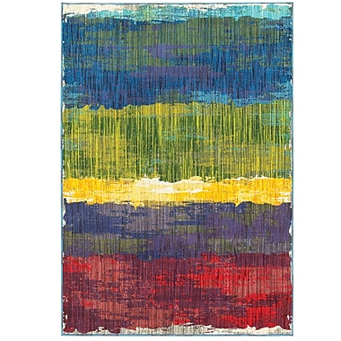Latitude Run Angelia Red/Blue/Yellow Area Rug; 3'10'' x 5'5''