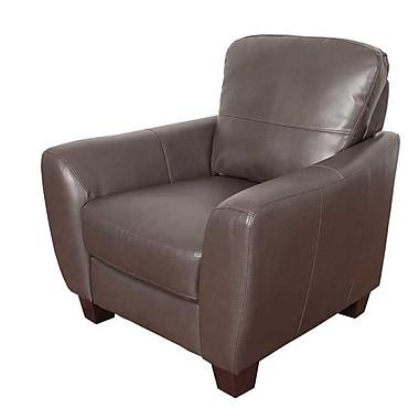 Latitude Run Lacy Armchair; Brown