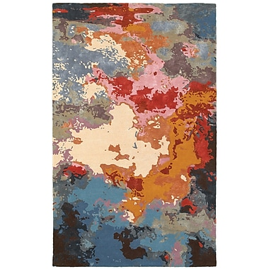 Latitude Run Wora Hand-Crafted Pink Area Rug; 8' x 10'