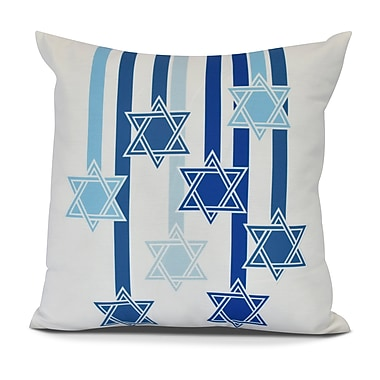 The Holiday Aisle Shooting Stars Euro Pillow; White