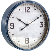Latitude Run Blue Metal 16'' Wall Clock