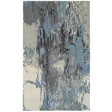 Latitude Run Wora Hand-Crafted Blue/Gray Area Rug; 4'11'' x 8'