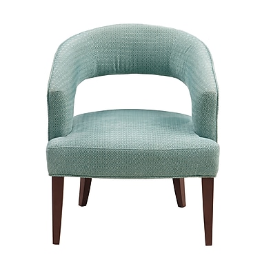 Latitude Run Daphne Barrel Chair; Blue