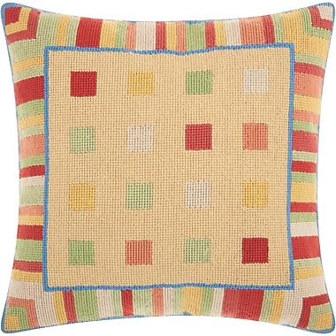 Latitude Run Colophon Wool Throw Pillow