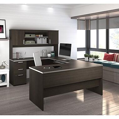 Latitude Run Barts U Shape Executive Desk Dark Chocolate