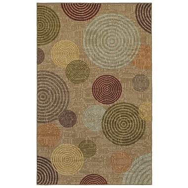 Latitude Run Rory Beige/Green Area Rug; Rectangle 8' x 10'