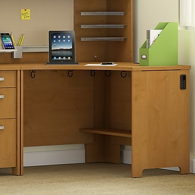 Latitude Run Envoy Corner Computer Desk; Natural Cherry